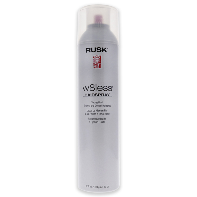 W8less Strong Hold Shaping and Control Hair Spray by Rusk for Unisex - 10 oz Hair Spray