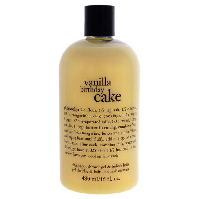 Vanilla Birthday Cake - by Philosophy for Unisex - 16 oz Bath Care