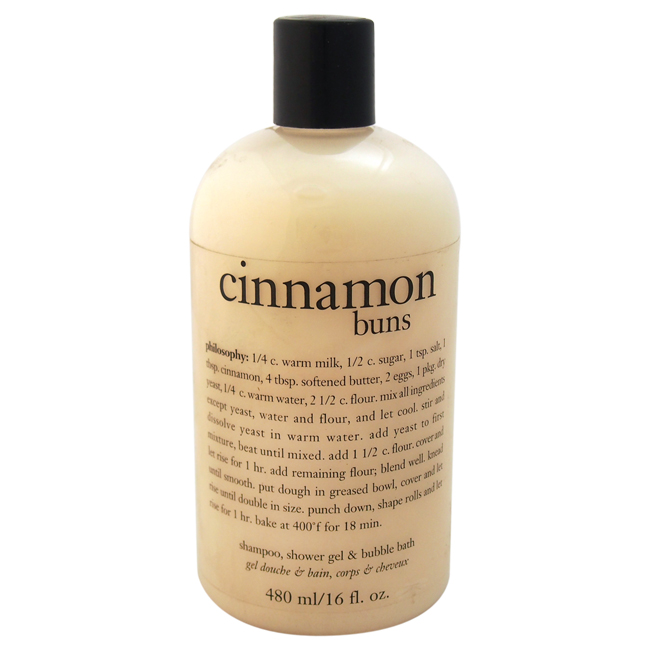 Cinnamon Buns 3-In-1 Bath & Shower Gel by Philosophy for Unisex - 16 oz Shower Gel