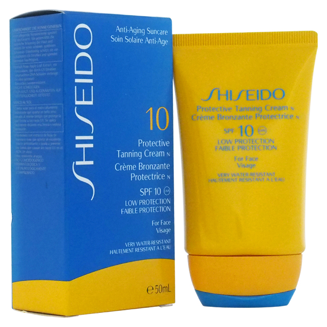Protective Tanning Cream N SPF 10 (For Face) by Shiseido for Unisex - 1.7 oz Sun Care