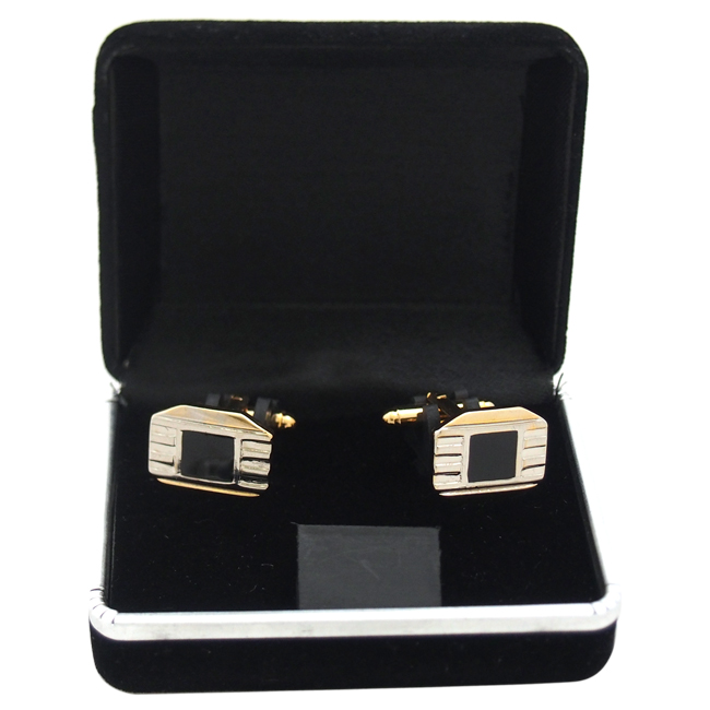 B42 Cufflinks by Polanni for Men - W 1.9 x L 1.4 cm Cufflinks