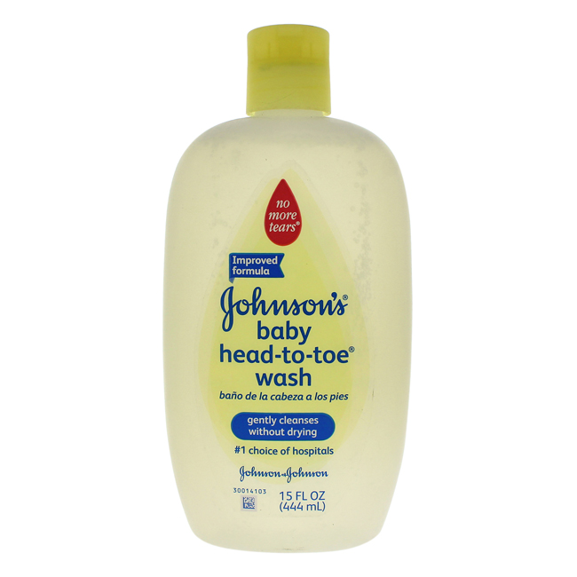 Johnson's Head-To-Toe Baby Wash by Johnson & Johnson for Kids - 15 oz Body Wash