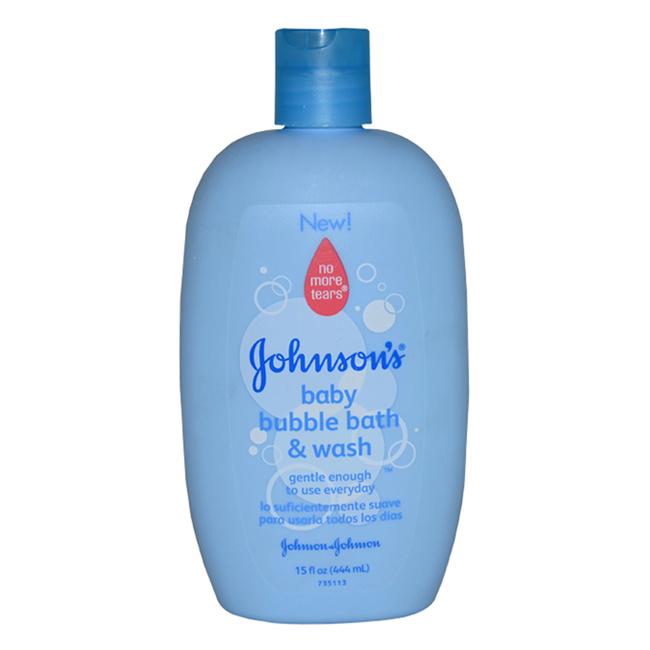 Johnson's Baby Bubble Bath & Wash by Johnson & Johnson for Kids - 15 oz Body Wash