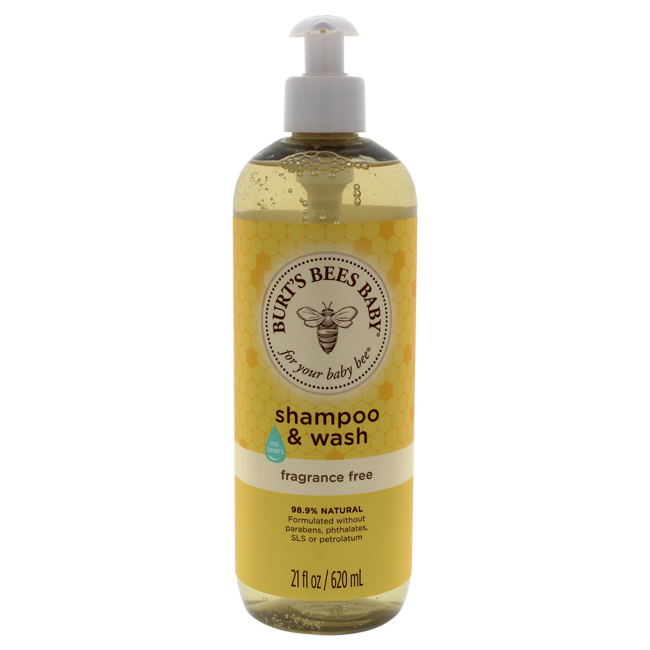 Baby Bee Shampoo & Wash Fragrance Free by Burt's Bees for Kids - 21 oz Shampoo & Body Wash