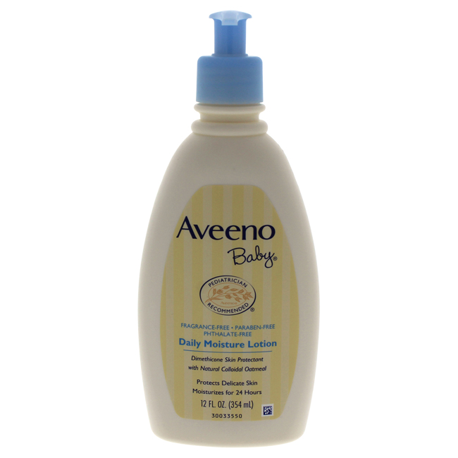 Baby Daily Moisture Lotion - Fragrance Free by Aveeno for Kids - 12 oz Lotion