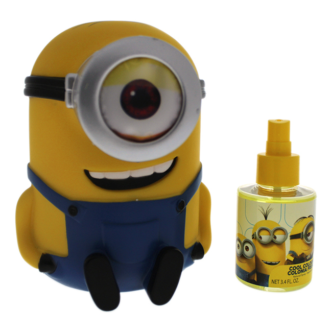 Minions by Minions for Kids - 2 Pc Gift Set 3.4oz Cool Cologne Spray, Money Box
