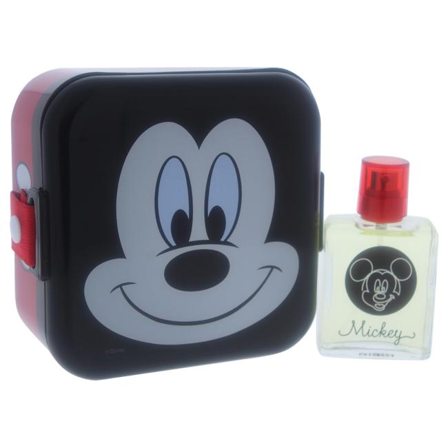 Disney Mickey Mouse by Disney for Kids - 2 Pc Gift Set 1.7oz EDT Spray, Snack Box