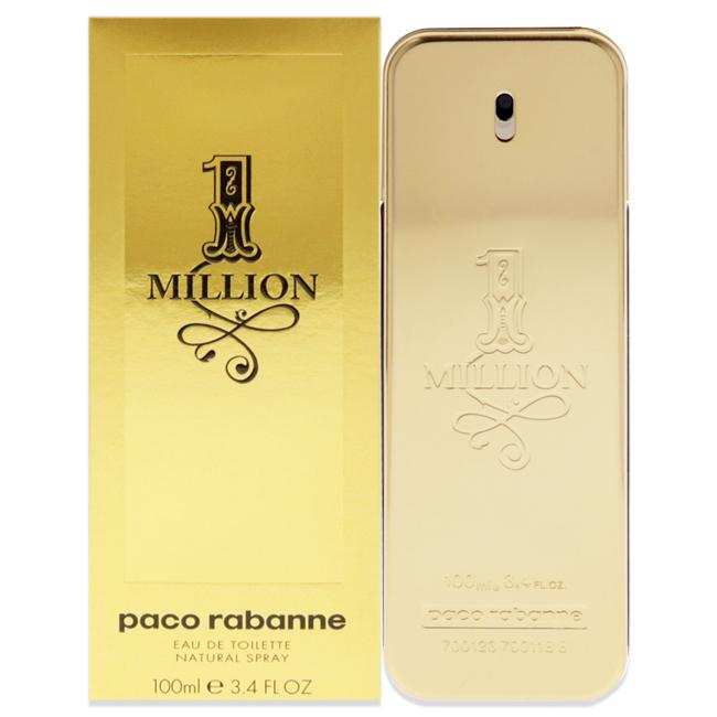 1 Million by Paco Rabanne for Men - 3.4 oz EDT Spray