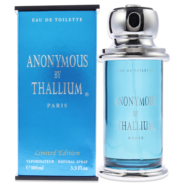 Anonymous By Thallium by Yves De Sistelle for Men - 3.3 oz EDT Spray (Limited Edition)