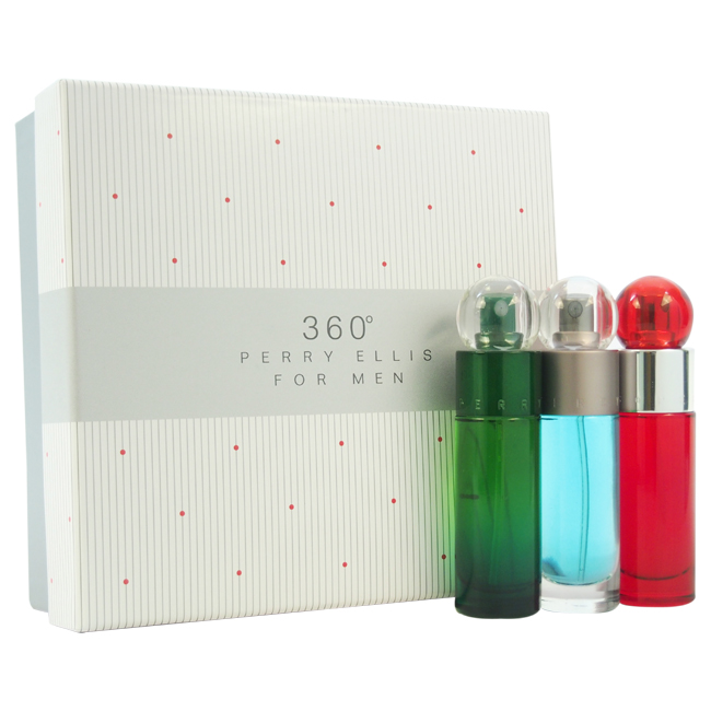 360 by Perry Ellis for Men - 3 Pc Gift Set 1oz 360 EDT Spray, 1oz 360 Green EDT Spray, 1oz 360 Red EDT Spray