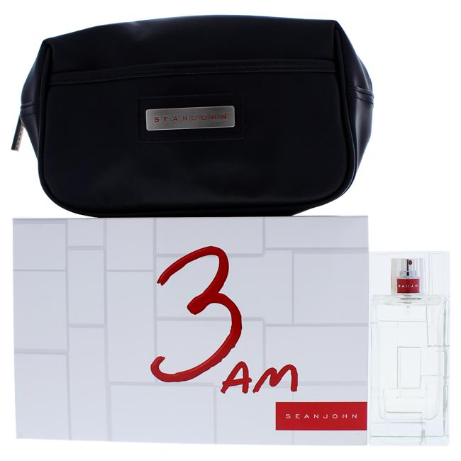 3 AM by Sean John for Men - 2 Pc Gift Set 3.4oz EDT Spray, Travel Kit