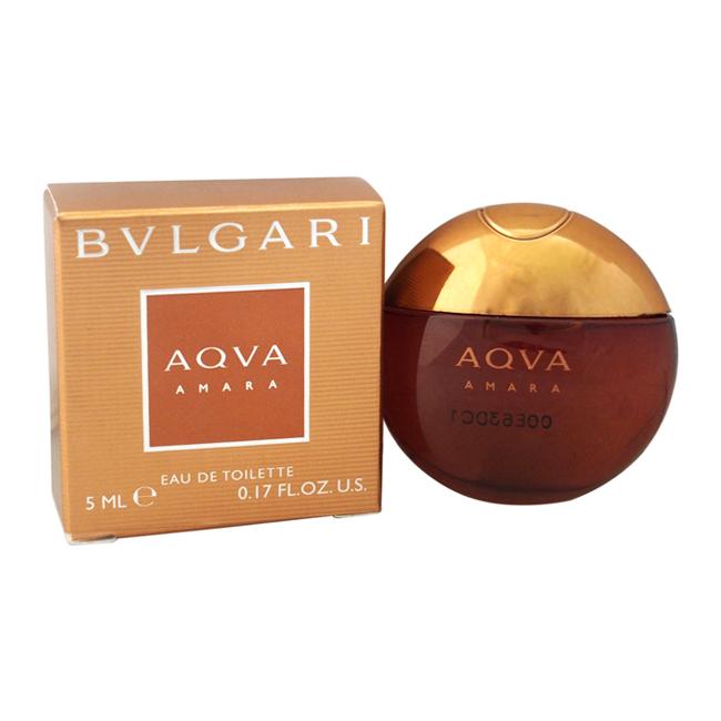 Bvlgari Aqva Amara by Bvlgari for Men - 0.17 oz EDT Splash (Mini)