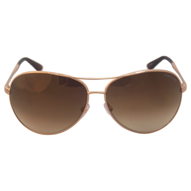 Tom Ford FT0035 Charles 28G - Rose Gold/Brown by Tom Ford for Men - 62-12-130 mm Sunglasses