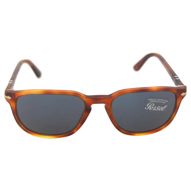 Persol PO3019S 96/56 - Terra Di Siena/Blue by Persol for Men - 52-18-140 mm Sunglasses