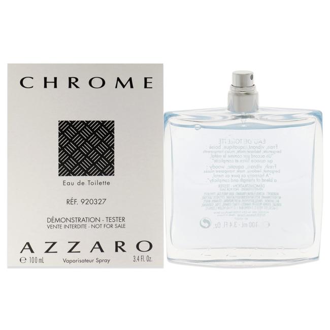 Chrome by Loris Azzaro for Men - 3.4 oz EDT Spray (Tester)