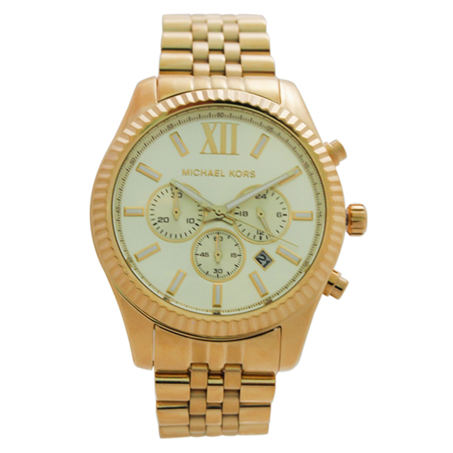 MK8281 Chronograph Lexington Gold-Tone Stainless Steel Bracelet Watch by Michael Kors for Men - 1 Pc Watch