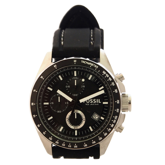CH2573P Decker Chronograph Black Silicone Watch by Fossil for Men - 1 Pc Watch