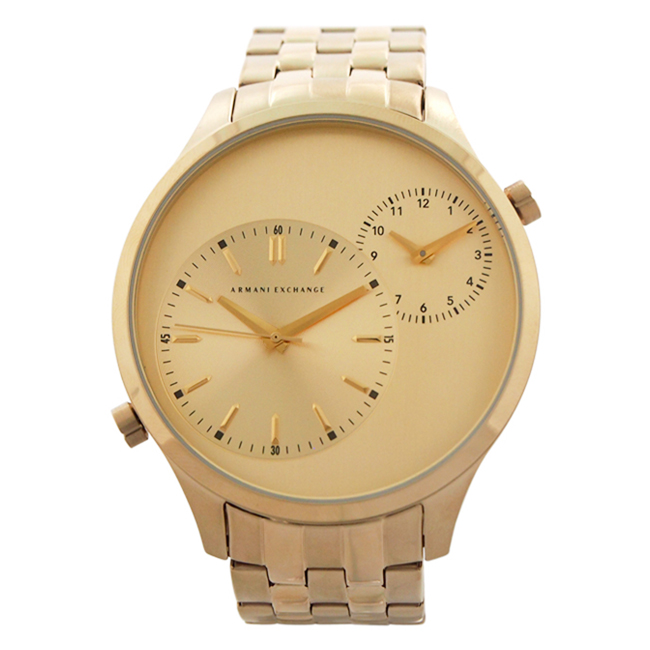 AX2176 Gold-Tone Stainless Steel Bracelet Watch by Armani Exchange for Men - 1 Pc Watch