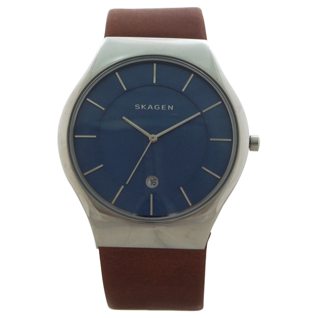 SKW6160 Grenen Brown Leather Strap Watch by Skagen for Men - 1 Pc Watch