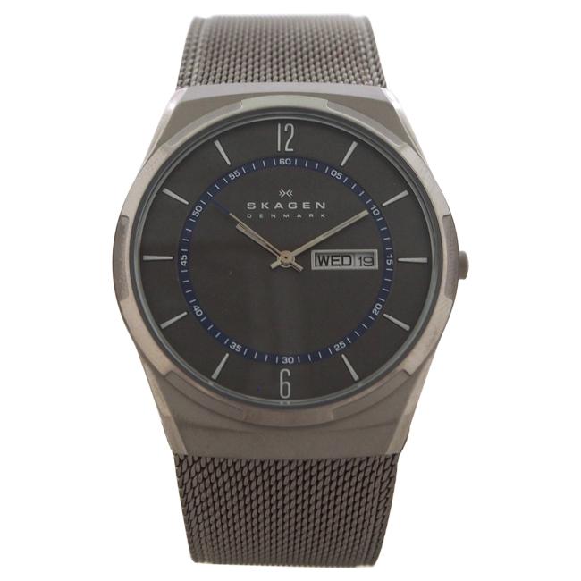 SKW6078 Titanium Mesh Bracelet Watch by Skagen for Men - 1 Pc Watch