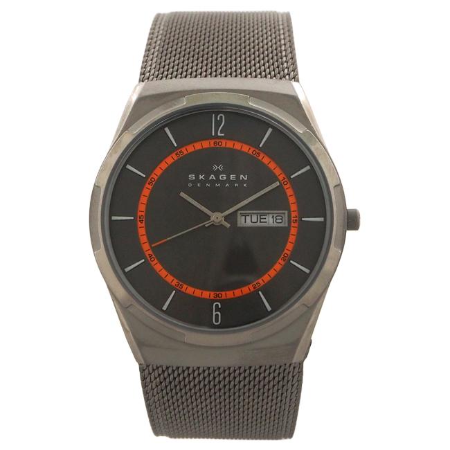SKW6007 Titanium Mesh Bracelet Watch by Skagen for Men - 1 Pc Watch