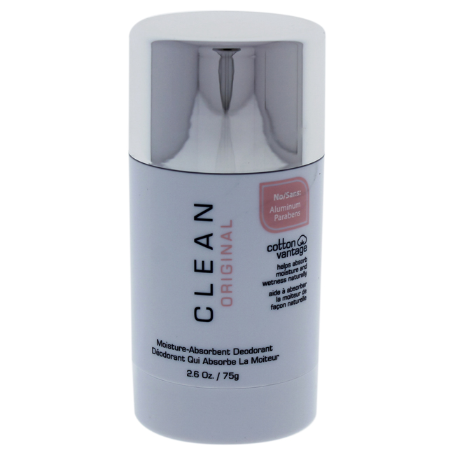 Clean Original Moisture Absorbent Deodorant Stick by Clean for Unisex - 2.6 oz Deodorant