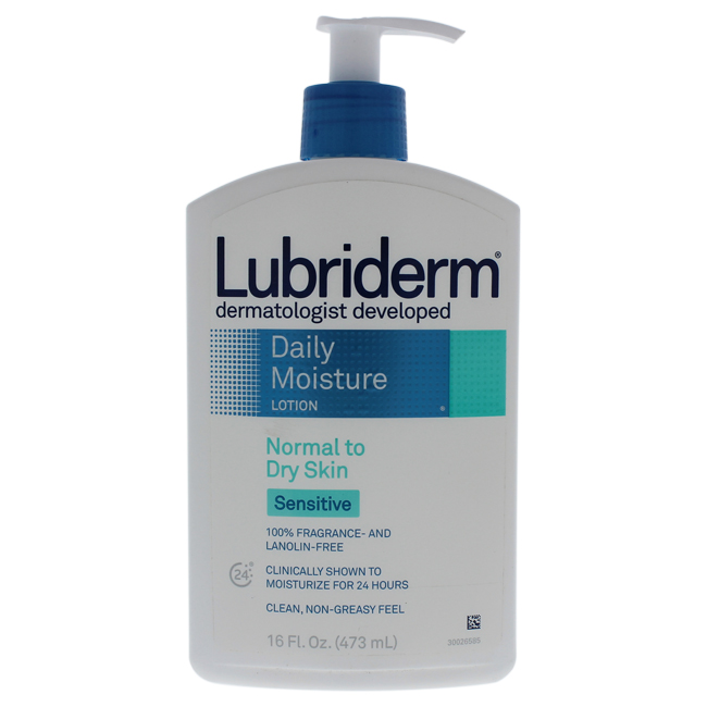 Daily Moisture Lotion Normal to Dry Skin Sensitive by Lubriderm for Unisex - 16 oz Lotion