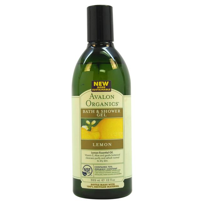 Organics Bath & Shower Gel - Lemon by Avalon for Unisex - 12 oz Gel