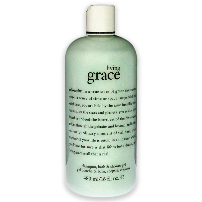 Living Grace Shampoo Bath & Shower Gel by Philosophy for Unisex - 16 oz Shower Gel