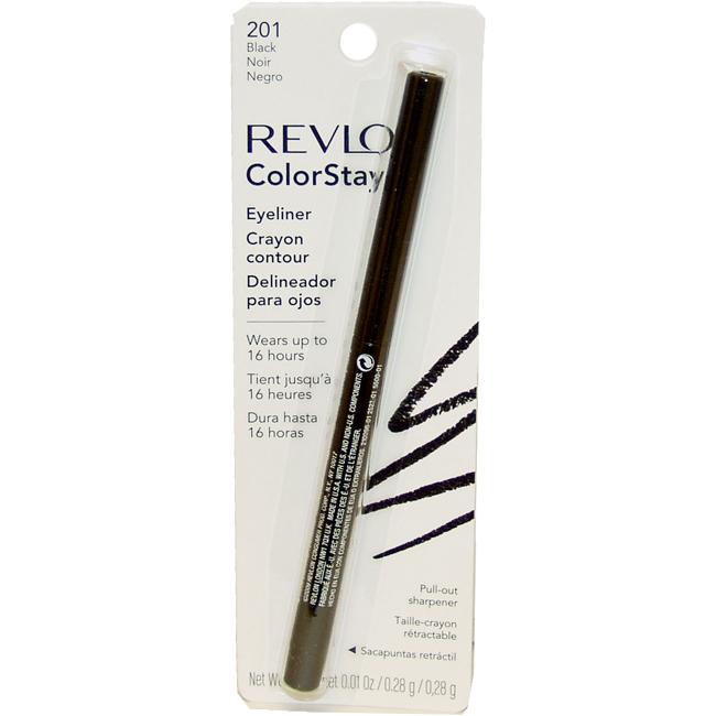 ColorStay Eyeliner Pencil #201 Black by Revlon for Unisex - 0.01 oz Eyeliner Pencil