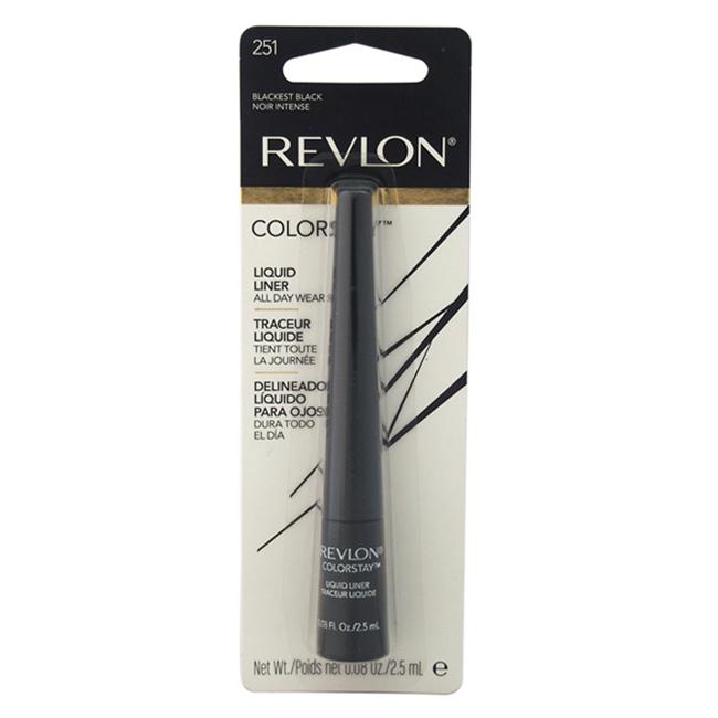 Colorstay Liquid Eyeliner #251 Blackest Black by Revlon for Unisex - 0.08 oz Eye Liner