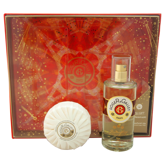 Extra Vieille Jean Marie Farina by Roger & Gallet for Unisex - 2 Pc Gift Set 3.3oz EDC Spray, 3.5oz Perfumed Soap