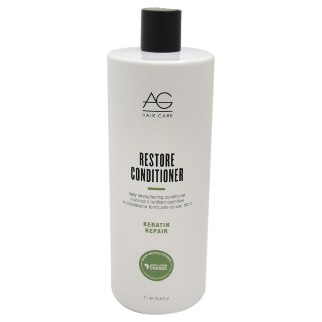Restore Daily Strengthening Conditioner by AG Hair Cosmetics for Unisex - 33.8 oz Conditioner