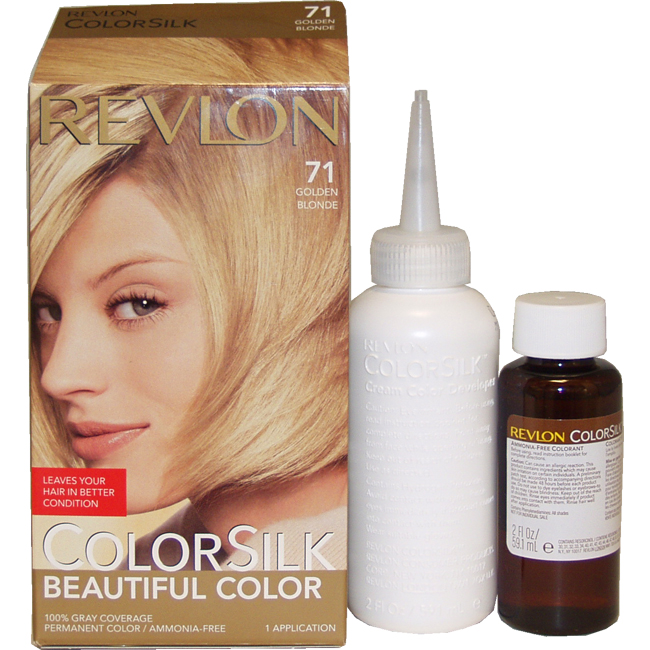 ColorSilk Beautiful Color #71 Golden Blonde by Revlon for Unisex - 1 Application Hair Color
