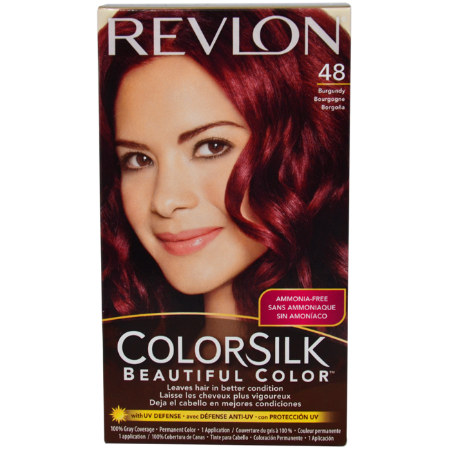 colorsilk Beautiful Color #48 Burgundy by Revlon for Unisex - 1 Application Hair Color