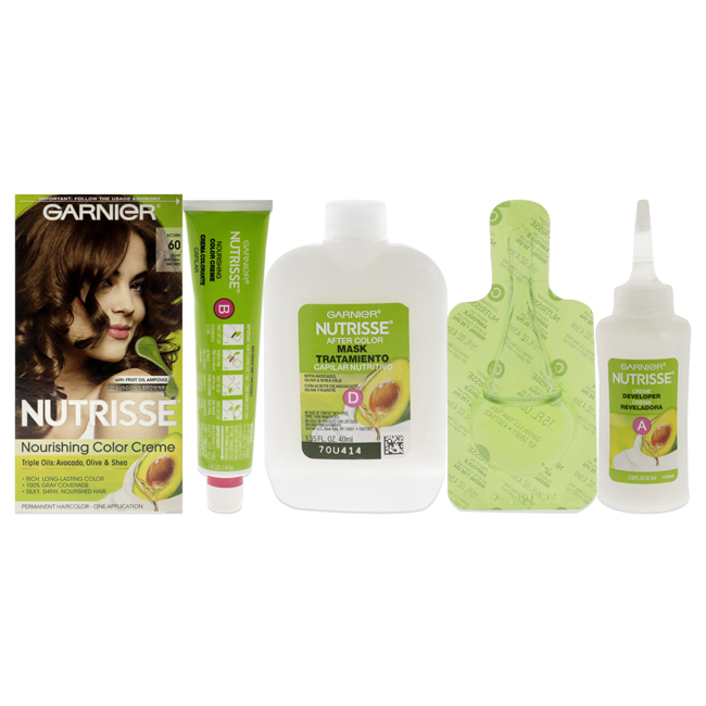 nutrisse nourishing color creme 60 light natural brown by garnier for unisex 1 application - Colores Garnier