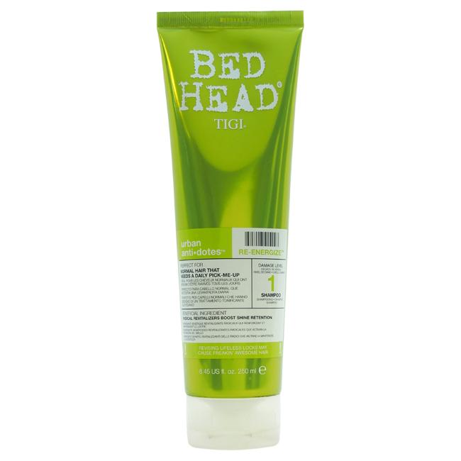 Bed Head Urban Antidotes Re-energize Shampoo by TIGI for Unisex - 8.45 oz Shampoo