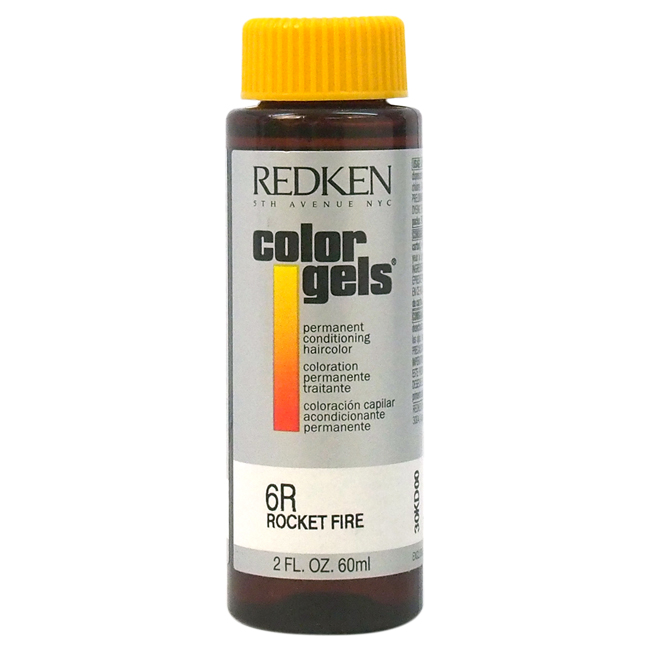 Color Gels Permanent Conditioning Haircolor 6R - Rocket Fire by Redken for Unisex - 2 oz Hair Color