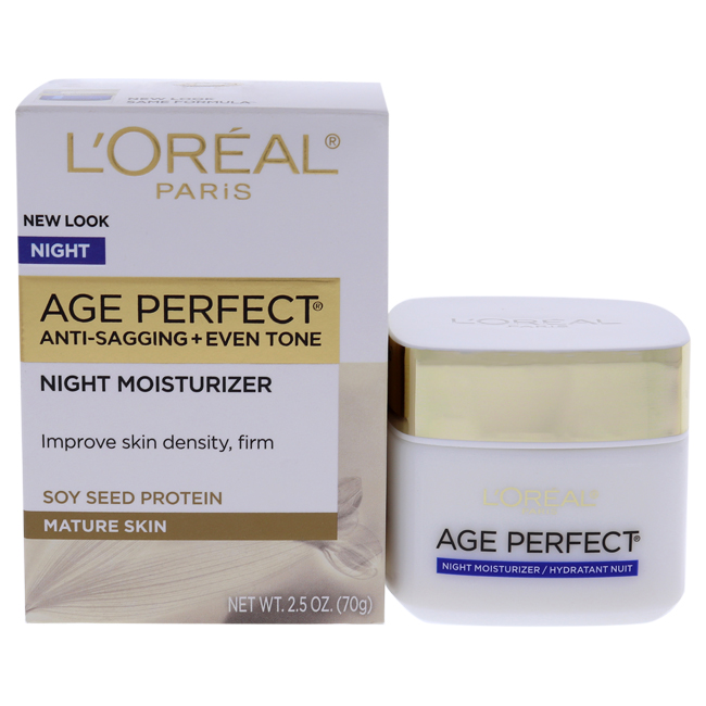 Age Perfect Anti-Sagging Anti-Age Spot Hydrating Moisturizer by L'Oreal Paris for Unisex - 2.5 oz Night Cream