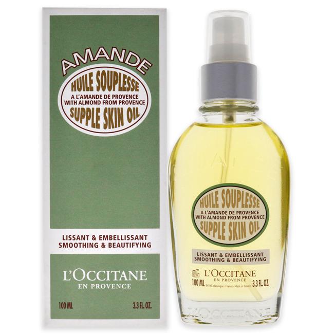 Almond Supple Skin Oil by L'Occitane for Unisex - 3.4 oz Body Oil