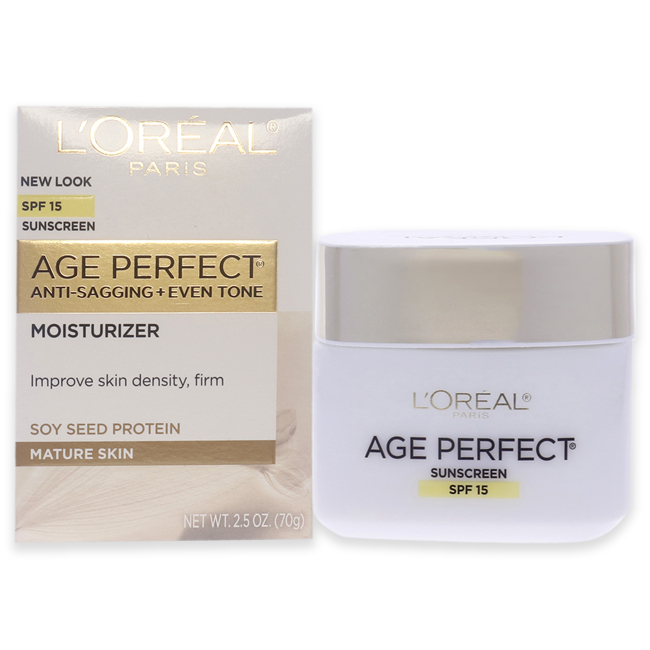 Age Perfect Anti-Sagging & Ultra Hydrating Day Cream SPF 15  by L'Oreal Professional  for Unisex - 2.5 oz Cream