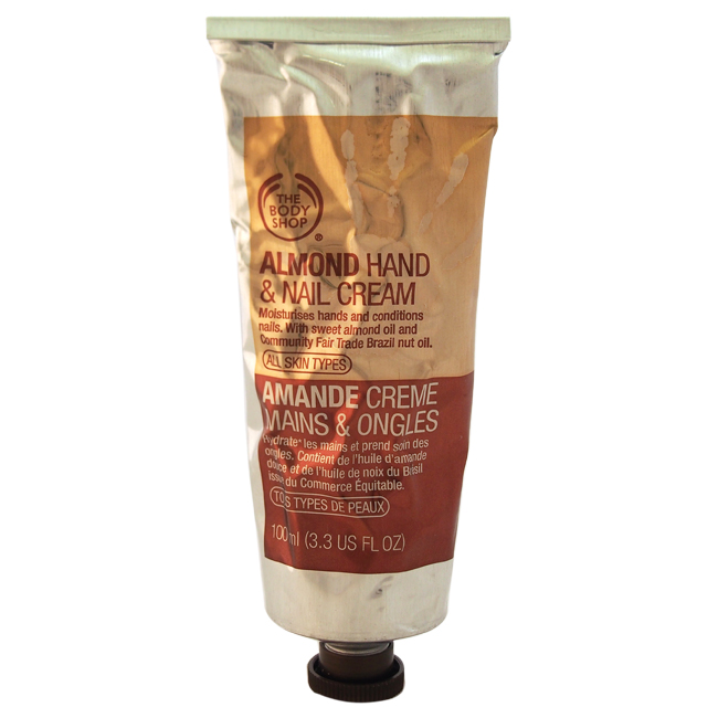 Almond Hand & Nail Cream by The Body Shop for Unisex - 3.3 oz Hand & Nail Cream