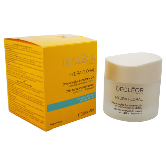 Hydra Floral 24hr Hydrating Light Cream by Decleor for Unisex - 1.7 oz Cream