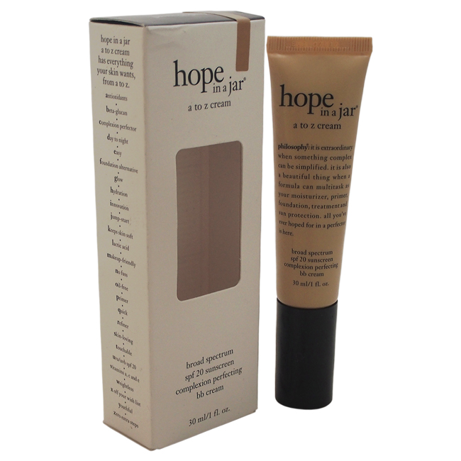 Hope In a Jar A to Z Cream Broad Spectrum SPF20 by Philosophy for Unisex - 1 oz Sunscreen