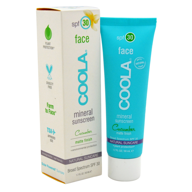 Mineral Face Sunscreen Matte Finish SPF 30 - Cucumber by Coola for Unisex - 1.7 oz Sunscreen