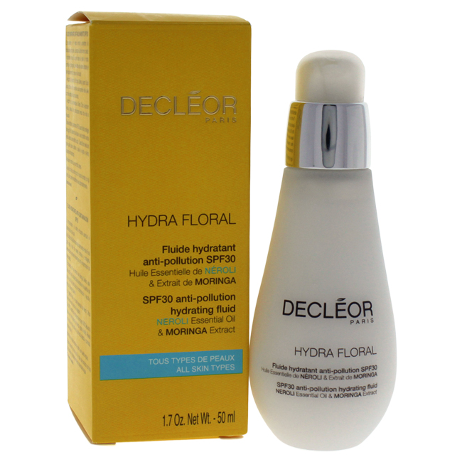 Hydra Floral Anti-Pollution Hydrating Fluid by Decleor for Unisex - 1.7 oz Oil