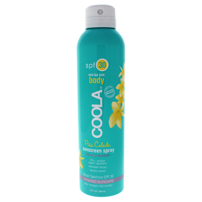 Body Sunscreen Spray SPF 30 - Pina Colada by Coola for Unisex - 8 oz Sunscreen