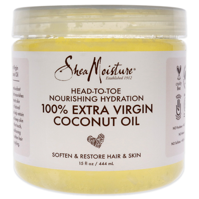 100% Extra Virgin Coconut Oil Head To Toe Nourishing Hydration by Shea Moisture for Unisex - 15 oz Oil