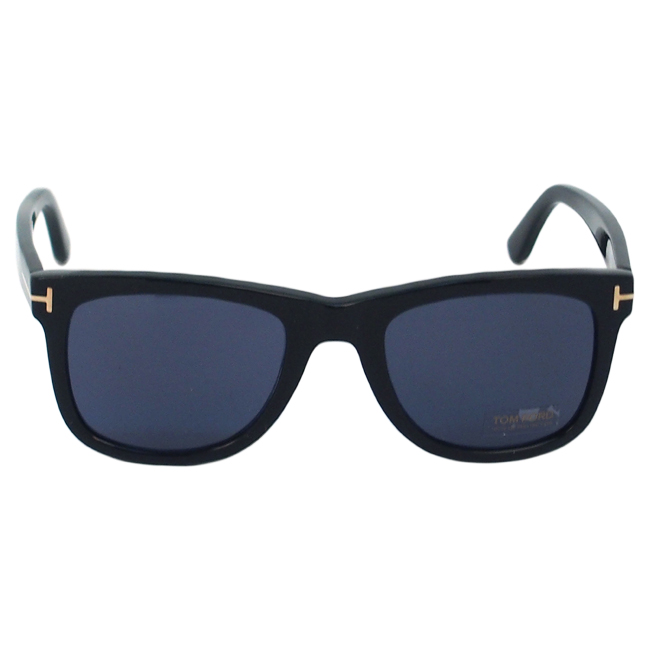 Tom Ford TF336 Leo 01V - Shiny Black/ Blue by Tom Ford for Unisex - 52-21-145 mm Sunglasses