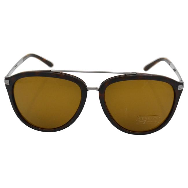 Versace VE 4299 108/73 - Havana by Versace for Unisex - 58-17-140 mm Sunglasses